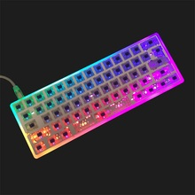 Kbdfans nova chegada caso dz60 acrílico caso cnc leite caso concha pcb placa costar para 60% gh60 mini teclado mecânico