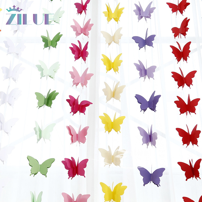Zilue 10pcs/lot Paper Garland Tissues Photo Props Strings Butterfly Banners Baby Shower Home Room Decor Wedding Favors Decor