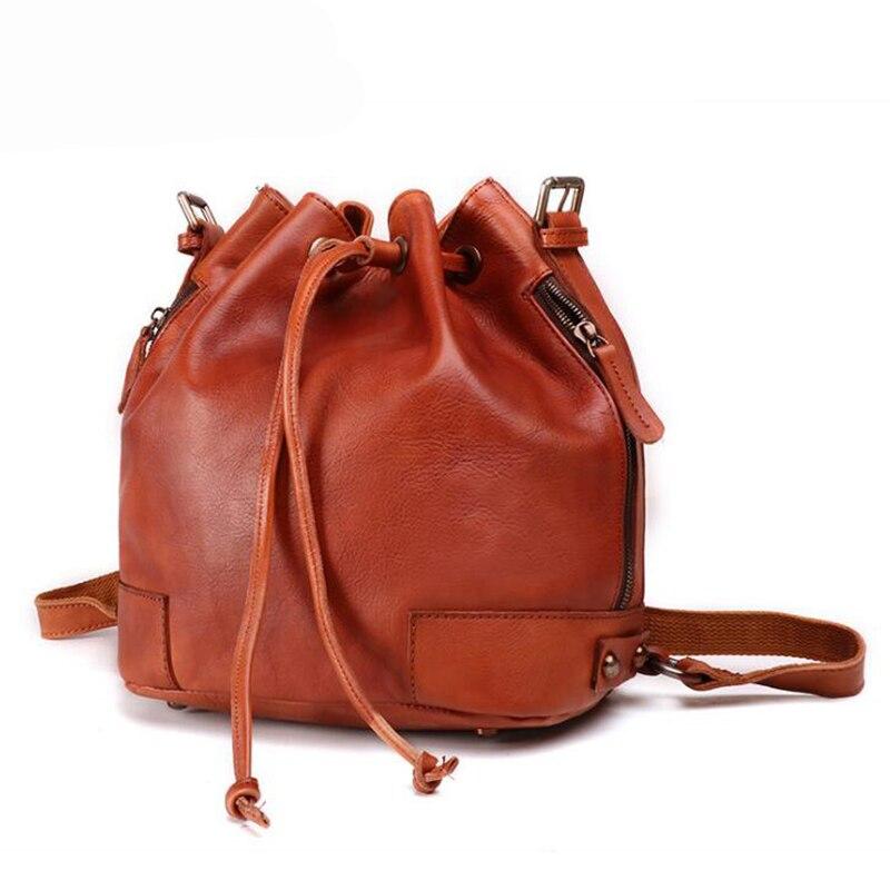 Classic Design Bucket Bag Women Genuine Leather Shoulder Bag Female Bags For Women 2019 Vintage Handbags Euro Functional BagsClassic Design Bucket Bag Women Genuine Leather Shoulder Bag Female Bags For Women 2019 Vintage Handbags Euro Functional Bags