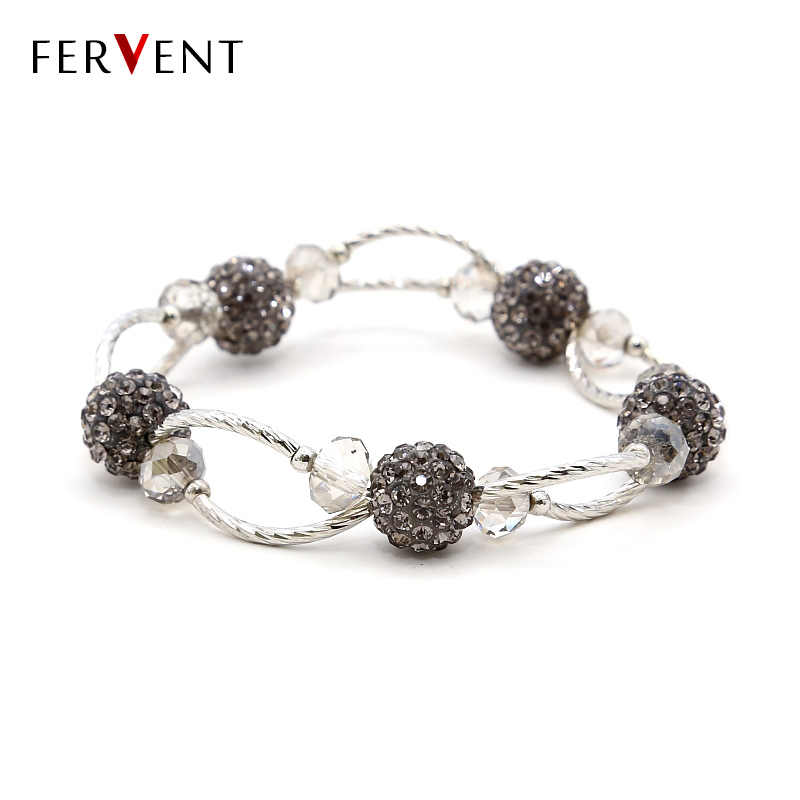 Новое поступление, Прямая доставка, многослойный романтический стиль, шармы из горного хрусталя, браслет ручной работы, женский браслет, подарок, ювелирные изделия