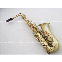 France Henri Selmer Alto Saxophone Eb Sax Reference 54 Saxofone Green Ancient Plated Drawing Playing The