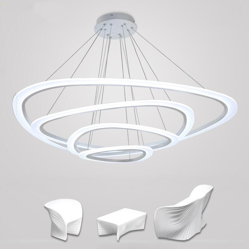Modern chandelier acrylic lights lamp for dinning room for Living room ceiling light fixture