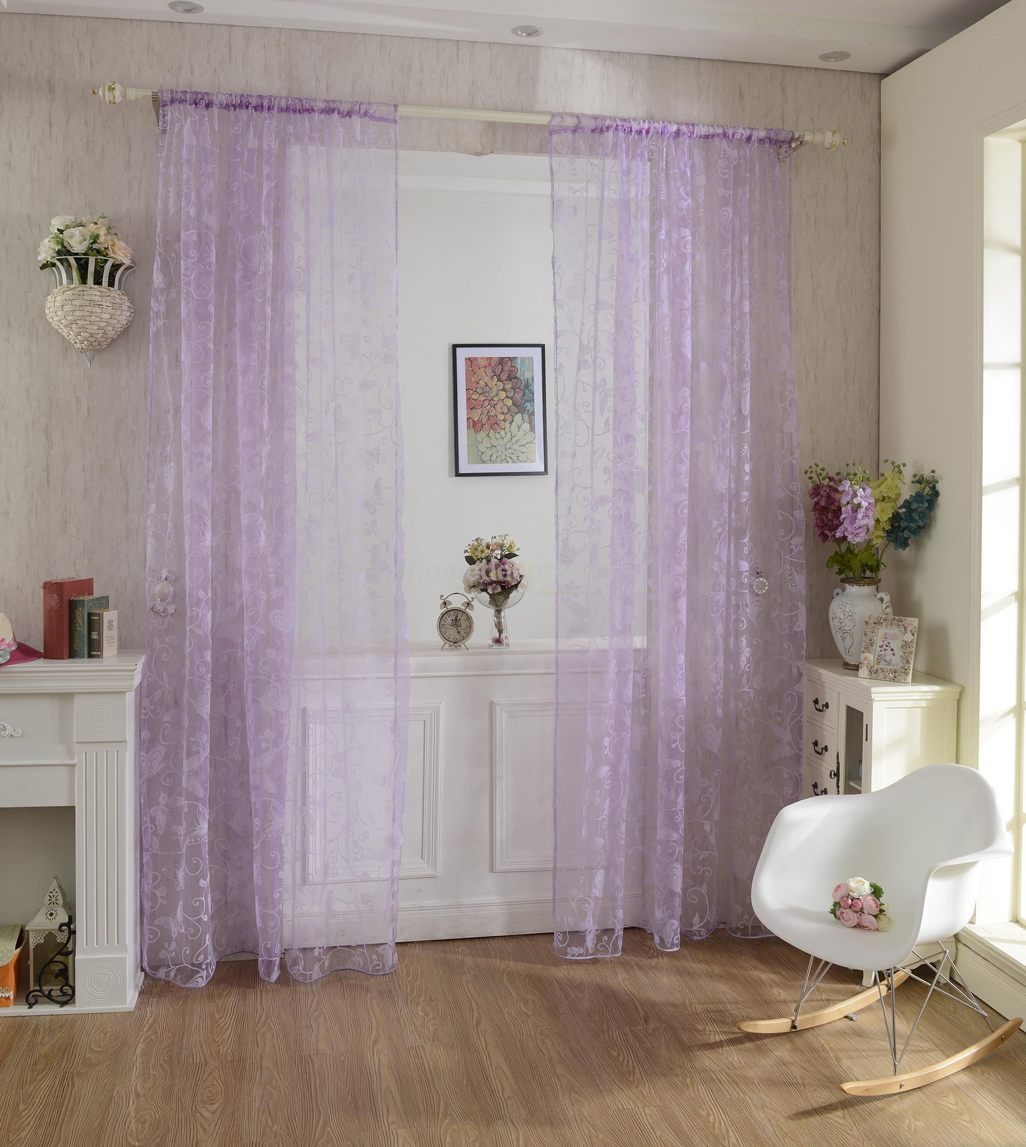 Purple butterfly curtains - Sheer Purple Curtains Popular Butterfly Sheer Curtains Buy Cheap