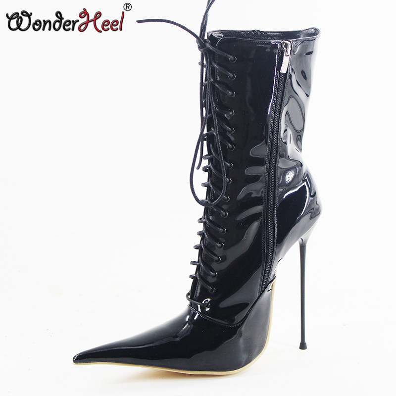 Wonderheel New 16cm stiletto heel super high heels extremely pointed toe box sexy fetish ultra thin
