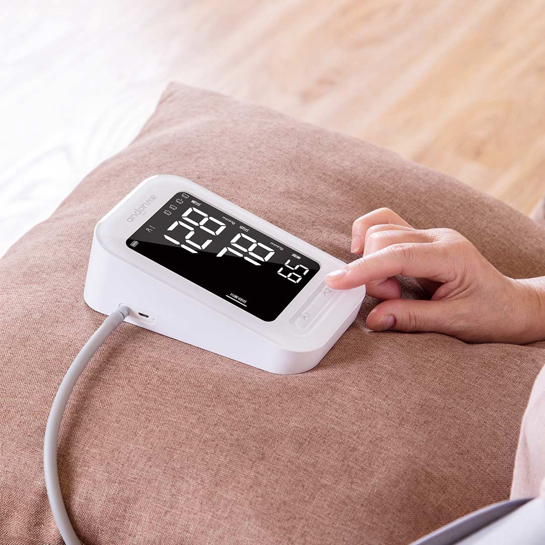 Andon automatique numérique tensiomètre moniteur de fréquence cardiaque compteur tonomètre sphygmomanomètre pulsomètre Portable