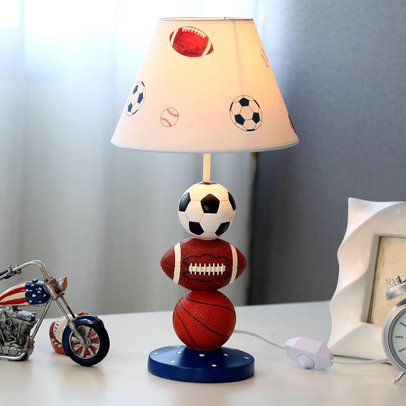 Творческий мода спортивный болельщик здоровый Смола Ткань LED E27 dimmiable настольная л ...