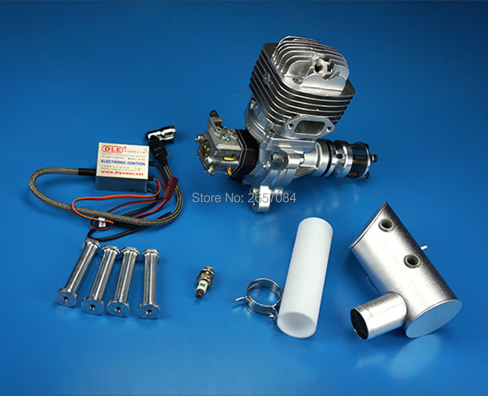 DLE61 61CC GAS Engine For RC Airplane Fixed Wing Model Single Stroke two exhaust wind cold