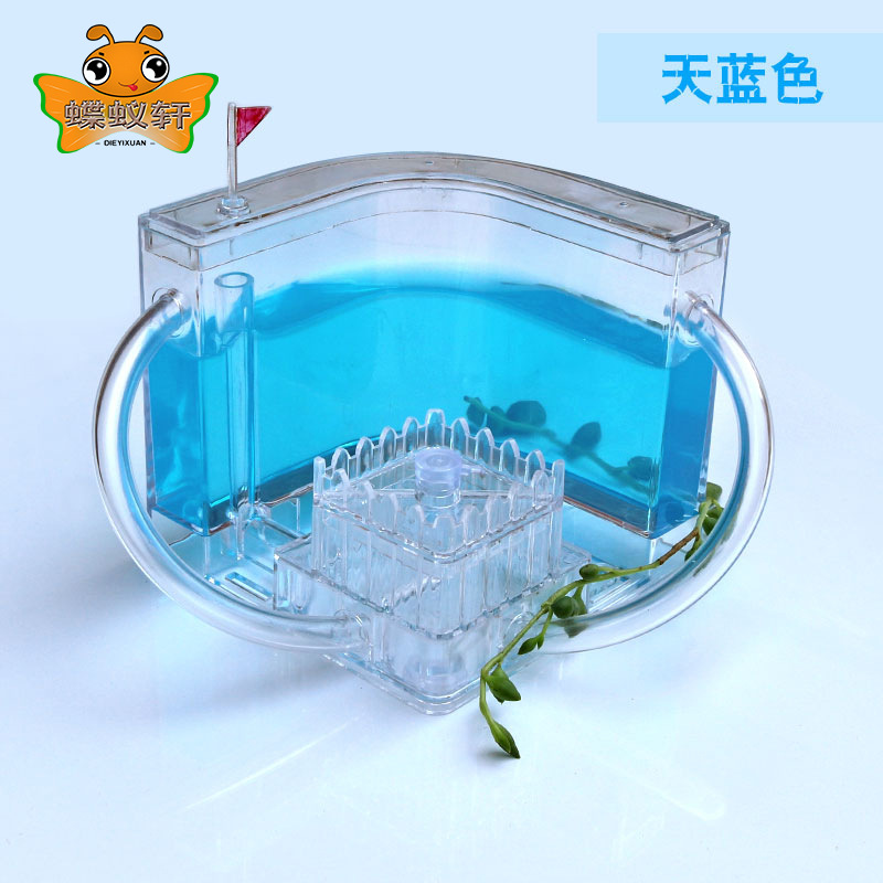 Ant Farm Ant House Castle Colorful Insect Feeding Box Ant Cage Insect Box Kindergarten Ecological Toy Education Model