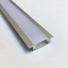 5-15 шт. TS08D LED alu профиля для Светодиодные полосы света светодиодные полосы канал алюминия корпус