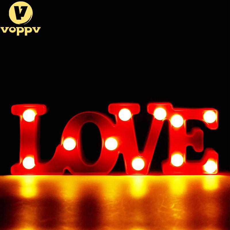1PC Romantic Small Red LOVE Marquee Sign Night Lights For Home Wedding Decoration Valentine Gift NZD2966
