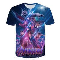 2019 April New design t shirt movie Avengers Endgame 3D print t-shirts Short sleeve Harajuku style tshirt streetwear tops