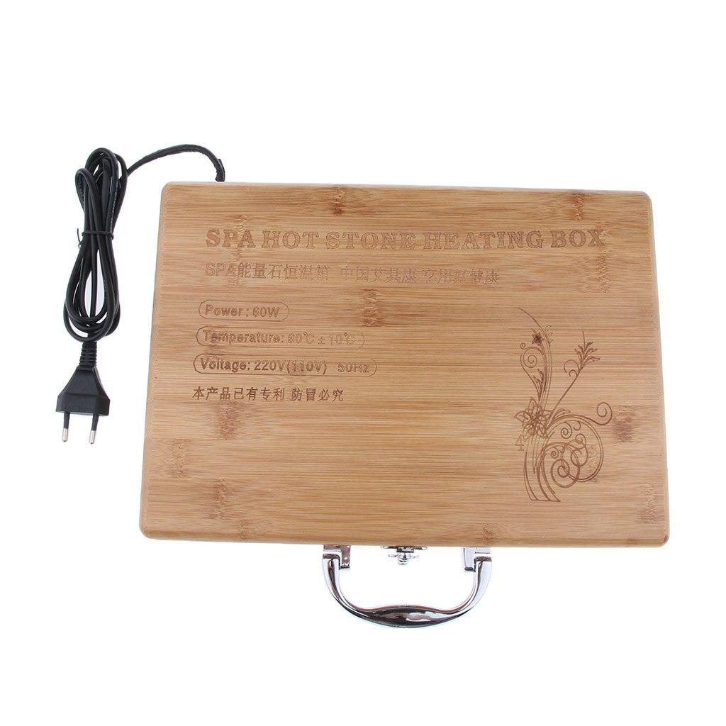 1 шт. спа массаж горячий камень рок нагревательная Коробка Чехол массажный камень теплее случае нагреватель ЕС вилка