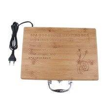1 adet Spa masajı sıcak taş kaya ısıtma kutusu kasa masaj taşı isıtıcı kılıfı isıtıcı ab tak