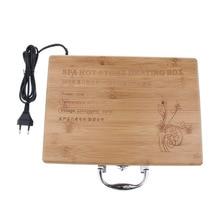 Caja de calefacción de piedra caliente para masaje, 1 Uds., calentador de piedra para masaje, enchufe europeo