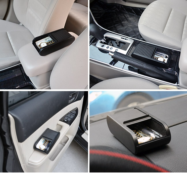 Multi-function Sliding door storage box Dashboard Storage box car organizer suitable for coins,small objects,mobile phones etc. 10