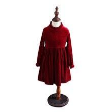 7abce77d8b77 Dei bambini di inverno lungo-manicotto abiti di mezza età per 4-14 anni  ragazza adolescente in velluto da sera elegante abito de.