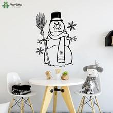 YOYOYU Wall Decal Snowman Vinyl Home Sticker Decals Xmas Merry Christmas Creative Cute Snowflake Removable Kids Decor CT612