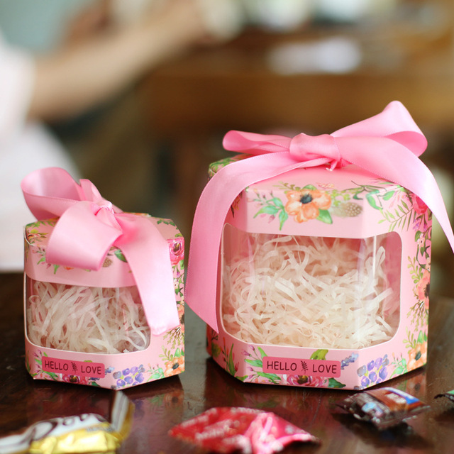 Wedding Candy Box Continental Creative Hexagon Personalized Gift Supplies