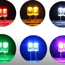 Микс 7 цветов желобчатое отверстие плоский верх вогнутый 5 мм светодиодный светильник с диодными бусинами для светодиодный ленты, гирлянда светильник ing source и т. Д