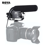 BOYA BY VM190 Camera Video Stereo Condenser Super cardioid Microphone Interview Mic for Canon Nikon Pentax DSLR Camcorder