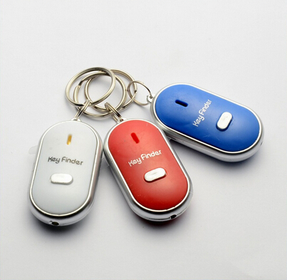 US $1 59 |Free Shipping 1 pc  White LEDs from Key Finder Locator Find Lost  car keys Keychain keychain whistle sound control-in Key Chains from Jewelry