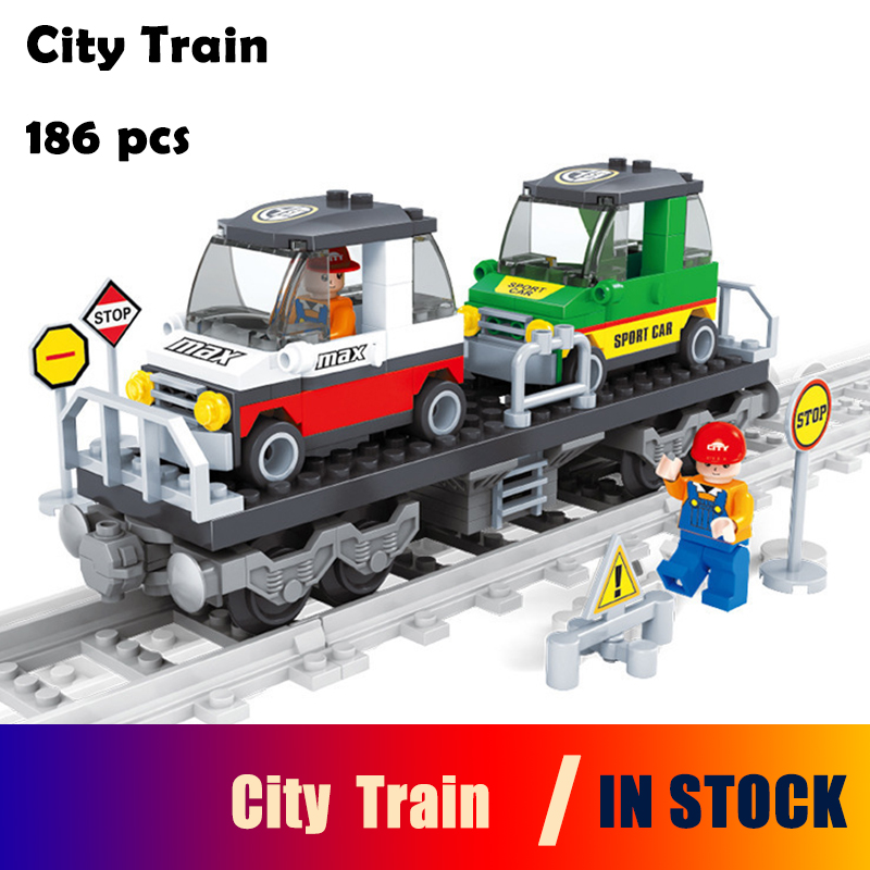 Ausini строительные блоки установить Совместимость с LEGO City поезд 400 3D Кирпич развивающие модели и здание игрушки хобби для детей ...