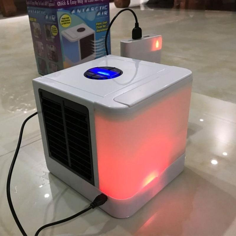 USB Portable Air Cooler Small Air Conditioning Appliances Mini Air Cooler Fans Air Cooling Fan Summer Portable Strong Wind