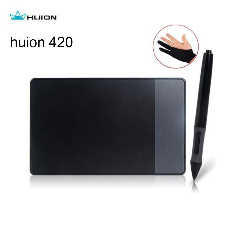 """Prix pour D'origine huion 420 tablette 4x2.23 """"stylet stylo numérique graphique dessin tablet professionnel usb signature pad gant cadeaux"""