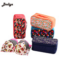 Floral Print Pillow Beauty Make Up Purse Fashion Professional Cosmetic Bag Cosmetic Cases Jewelry Storage Bags