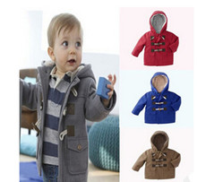 New winter boys warm Outerwear Baby boys fashion cotton color 4-color clothing jacket Kids thicken coat for 1-6 years old