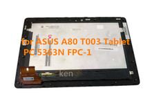10.1″ Black 5363N FPC-1 For ASUS Padfone 3 Infinity A80 T003 Tablet Touch Screen Digitizer Glass Assembly + Bezel Frame
