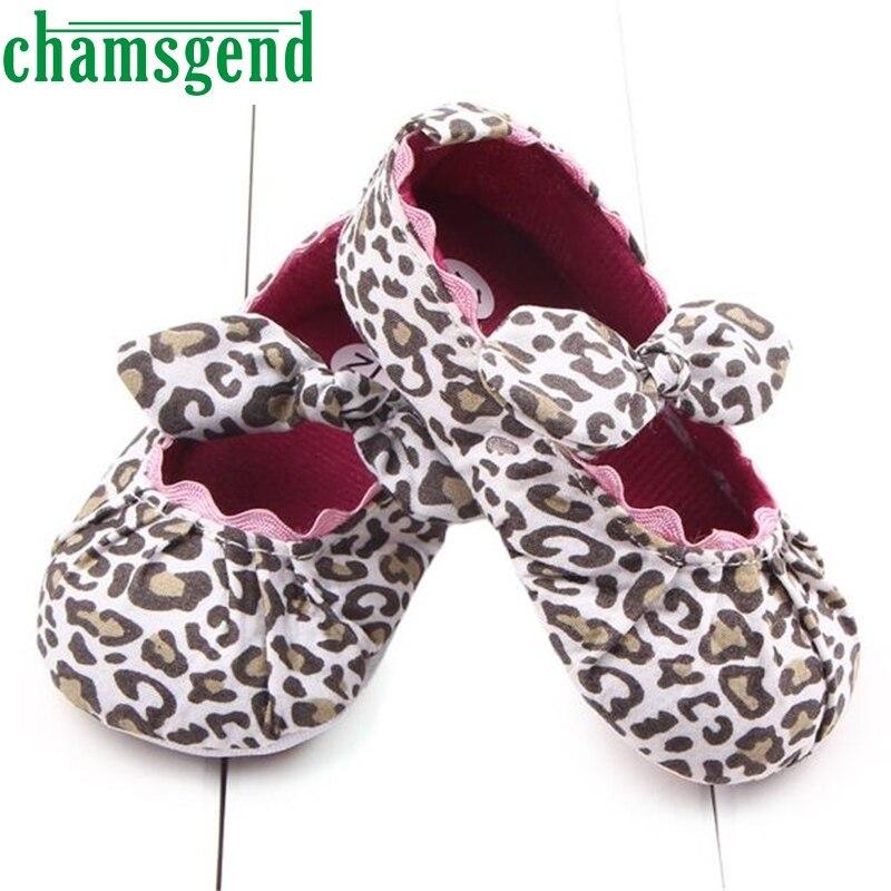 Toddler Kids Baby Girls Leopard Elastic band Bowknot Newborn Shoes ap0227-2