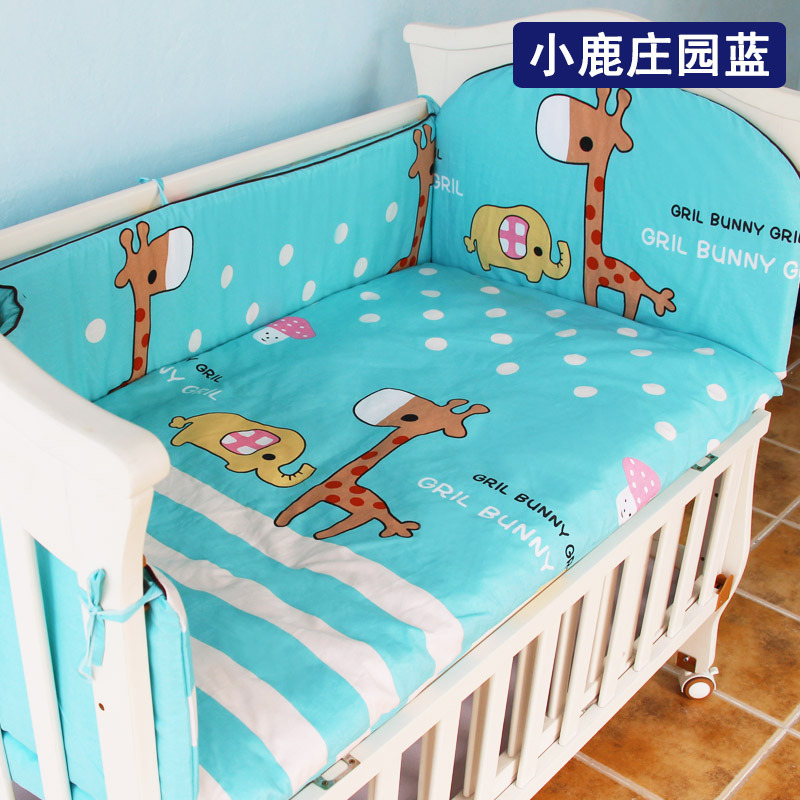 6pcs/set Cute Cotton Children Baby Bedding Set Comfortable Crib Bumper+Mattress Organizer Cot Kit Newborn Baby Bed Linens,7 size6pcs/set Cute Cotton Children Baby Bedding Set Comfortable Crib Bumper+Mattress Organizer Cot Kit Newborn Baby Bed Linens,7 size