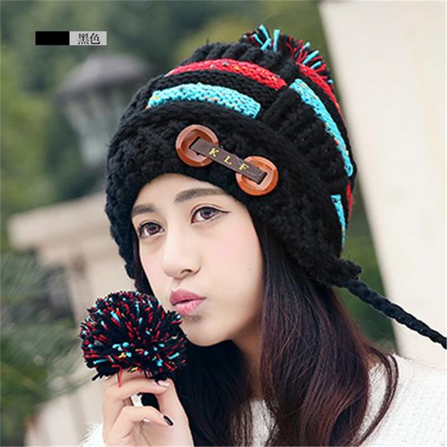 Liva Girl High Quality Winter Hat Winter Female Hats Hot Selling The Knitting Ball Wool Cap Hat Casual Hats For Women 2017 yhkgg the girl s hat warm and comfortable in winter hats the ornament of a flower cute baby hat knitting hat