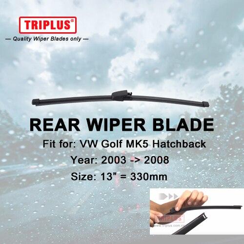 Rear Wiper Blade for VW Golf 5 Hatchback (2003-2008) 1pc 13 330mm,Car Rear Windscreen Wipers,for Back Windshield Blades