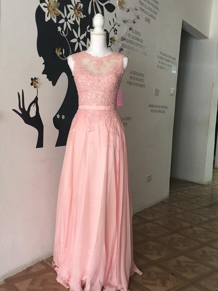 bc50491448fa8 US $62.63 28% OFF|bridemaid dress vestido longo sexy sho me 2018 new cheap  pink lace bridesmaid dresses Wedding Party Dress vestido real photos-in ...