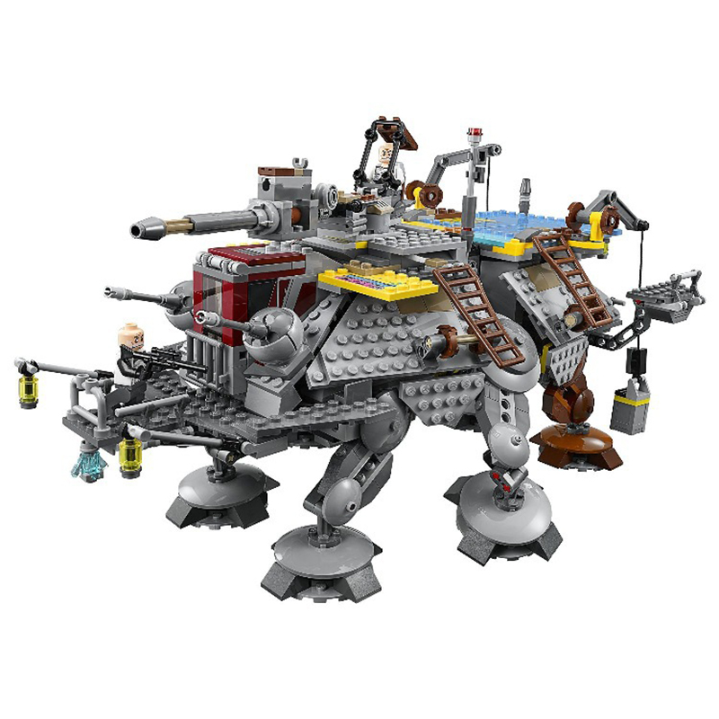 05032 Star Wars Captain Rexs AT-TE Building Blocks 75157 STAR WARS Toy Boys Toys 1022 Pcs Toys for Children