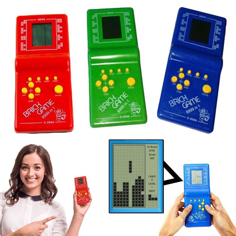 Toy Game-Machine Battery Tetris Kids New Handheld Classic With Music Playback
