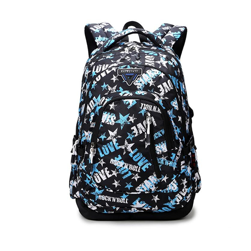 fashion love letters printing backpack for boy children book bag kids girls black star backpack boys school bags for teenagers