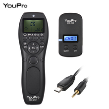 YouPro MC 292 DC0/DC2/N3/S2/E3 2.4G A Distanza Senza Fili di Controllo LCD Timer Rilascio di Otturatore canali per Canon Sony Nikon Fujifilm ecc