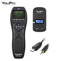 YouPro MC-292 DC0/DC2/N3/S2/E3 2.4G Wireless Remote Control LCD Timer Shutter Release Channels for Canon Sony Nikon Fujifilm etc