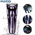 FLyco электробритва с 3D плавающими головками, моющаяся бритва, Электрический светодиодный зарядный дисплей, бритвенный станок для мужчин FS372