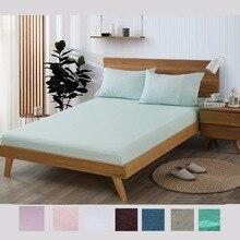 Sábana de lino Multicolor 100% sábana rey reina tamaño doble ropa de cama de lino De Lino Francés equipado sábana de lino