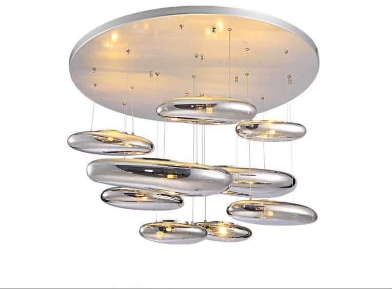 Ceiling light Space water drop mango Modern ceiling <font><b>LED</b></font> <font><b>80CM</b></font> liquid Luminaire Science And Technology ceiling lamp Free shopping image