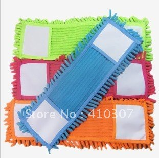Clearance Chenille Microfiber Mop Head Creative Rectangular Replacement Floor  Mop Mixed Color High Quality Freeshipping 18