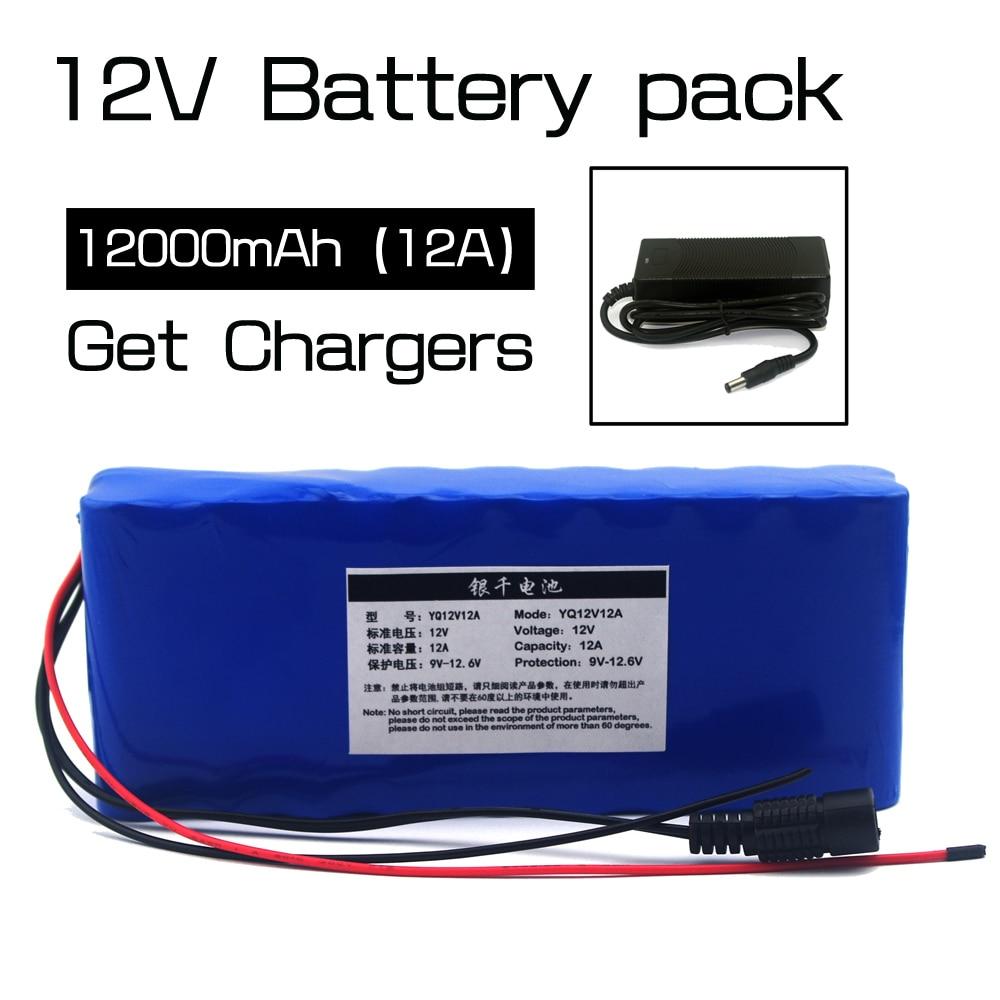 12v12ah Lithium Battery Monitor 12.6v 35w xenon lamp hunting medical equipment batteries kit + 12 v 3a charger|Battery Packs| |  - title=