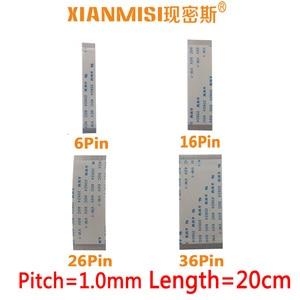 FFC/FPC Flat Flex Ribbon Cable 6Pin 16Pin 26Pin 36Pin Same Side 1.0mm Pitch AWM VW-1 20624 20798 80C 60V Length 20cm 5PCS(China)