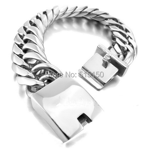 9 20MM Huge&Heavy Silver Curb Cuban Chain Fashion Jewerly 316L Stainless Steel 2014 Newest Men&Boys Bangle Bracelet