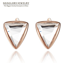 Neoglory Fashion Triangle Designer Stud Earrings for Women Wholesale Charm Gold Plated Crystal Jewelry Accessories Sale