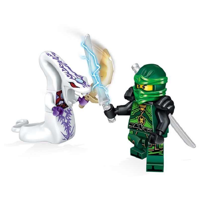 24 шт./лот совместимые NinjagoINGlys ниндзя герои фигурки Kai, jay, Cole Zane Ллойд с оружием экшн игрушки ninjago фигурные блоки